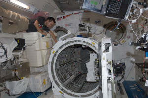NanoRacks, which has used the airlock on the International Space Station's Kibo module to deploy dozens of customers' cubesats, wants to add its very own airlock to the ISS. Credit: NASA