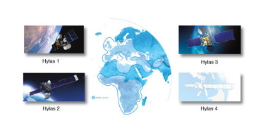 Avanti Communications aims to deploy a network of four Hylas satellites to provide broadband coverage over Europe, the Middle East and Africa. Credit: SpaceNews graphic by Brian Berger