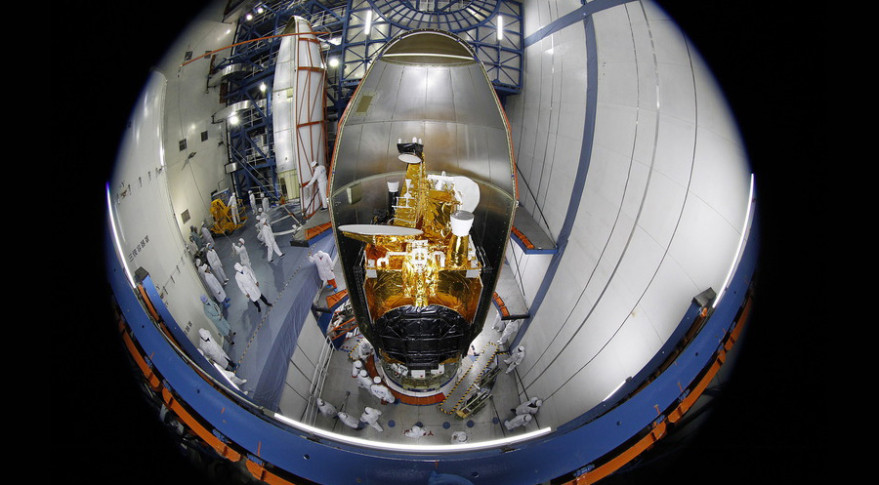 Belarus's first satellite, Belintersat-1, was built and launched in China. Credit: Belintersat