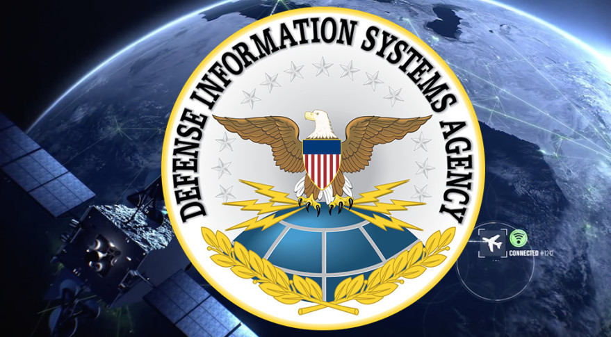 The Defense Information Systems Agency's  CSSC contract calls for bidders to stitch together guaranteed global satellite bandwidth for over specific geographic areas, in multiple frequencies. Credit: SpaceNews graphic