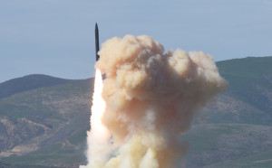 A ground-based interceptor launches from Vandenberg Air Force base as part of a Jan. 28 missile defense test. Credit: Missile Defense Agency.