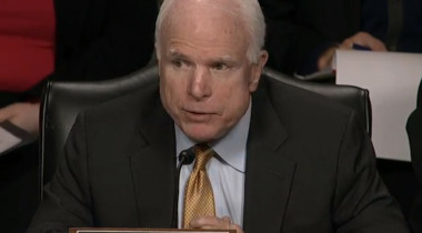 Senate Armed Services Committee Chairman John McCain (R-Ariz.) will hold a hearing Jan. 27 on Russian rocket engines. McCain has been a vocal critic of the Air Force's reliance on the RD-180 engine. Credit: Roll Call video capture