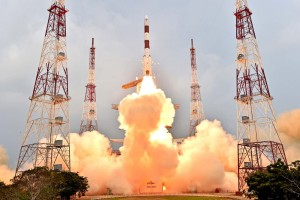 An Indian Polar Satellite Launch Vehicle lifted off Jan. 20 carrying IRNSS-1E, the fifth satellite in  the seven-spacecraft Indian Regional Navigation Satellite System. Credit: ISRO