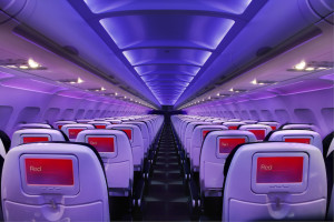 Virgin America partnered with ViaSat to deliver high-speed WiFi to the airline's A320 passengers. Credit: Virgin America