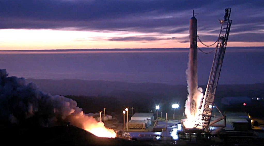 Falcon 9 static fire test