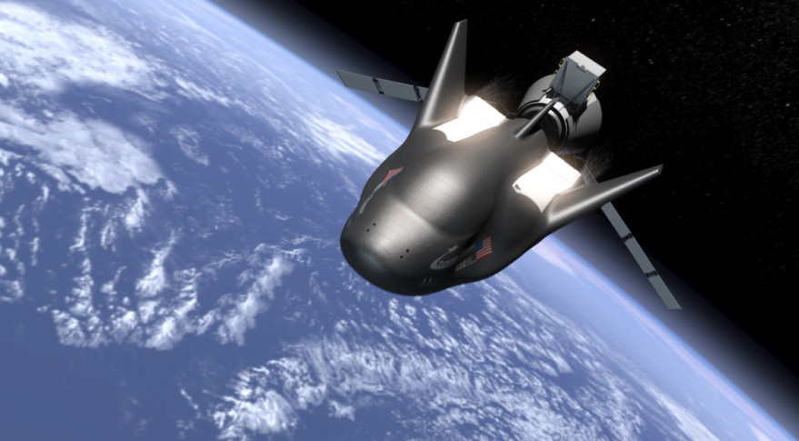The in-orbit separation of SNC's Dream Chaser Spacecraft from its cargo module is shown in this illustration. Credit: Sierra Nevada Corp.