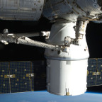 A SpaceX Dragon cargo spacecraft berthed to the International Space Station. SpaceX had the best technical ratings of the three winning CRS-2 proposals, but also, by the approach NASA used, the highest price. Credit: NASA