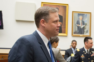 U.S. Rep. Jim Bridenstine (R-Okla.), after testifying before the House Armed Services Committee during posture hearings at the Rayburn House Office Building in Washington D.C., Feb. 26, 2014. U.S. DoD/Mass Communication Specialist 1st Class Daniel Hinton