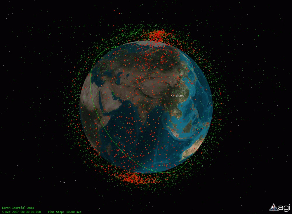 China ASAT test debris