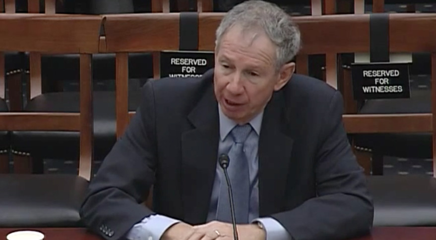Mike Griffin, who served as NASA administrator from 2005-2009, testified Feb. 25 before the House Science Committee. Credit: House Science Committee webcast