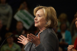 Democratic presidential hopeful Hillary Clinton at a New Hampshire event in November. Credit: Marc Nozell