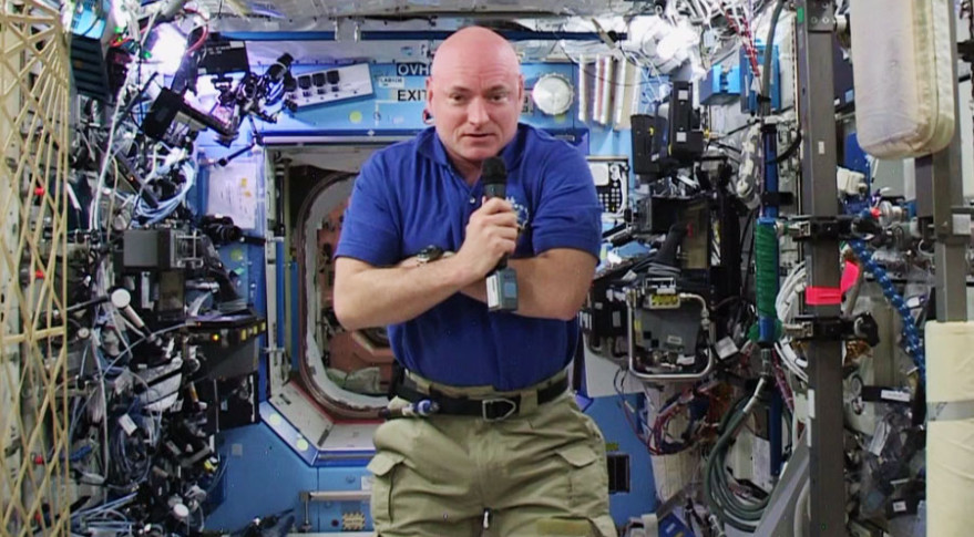 Scott Kelly has been on the ISS nearly a year. Credit: NASA