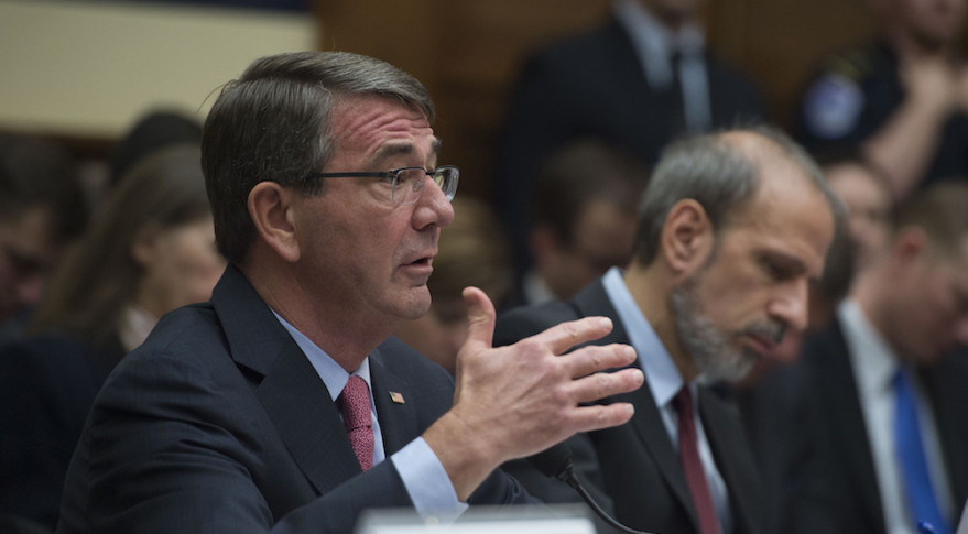 Defense Secretary Ash Carter testifies on the Defense Department's proposed fiscal year 2017 budget before the House Armed Services Committee in Washington, D.C., March 22, 2016. DoD photo by Air Force Senior Master Sgt. Adrian Cadiz