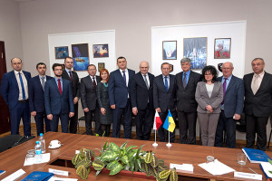 Representatives of Poland's and Ukraine's space agencies.  Credit: State Space Agency of Ukraine