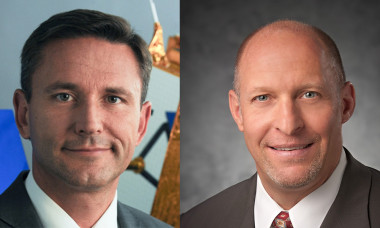Eric Beranger (left) and Mark Spiwak (right) are the satellite production chiefs at Airbus and Boeing, respectively. Credit: Airbus/Boeing