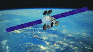 Caption: Boeing will build four more 702MP satellites for Intelsat's new high-performance satellite fleet, Intelsat EpicNG.  Credit: BOEING ARTIST'S CONCEPT