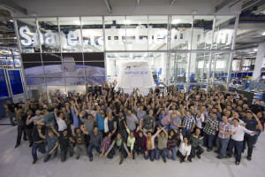 Group photo from February 2015 marking the departure of a Dragon capsule from SpaceX headquarters. Credit: SpaceX