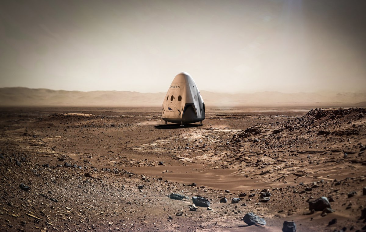 SpaceX studying landing sites for Mars missions