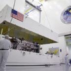 Lockheed Martin's full-sized, functional GPS 3 satellite prototype. Credit: Lockheed Martin