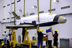 Technicians get ISRO's Reusable Launch Vehicle Technology Demonstrator ready for transport. Credit: ISRO