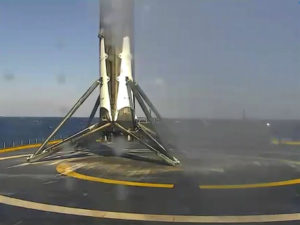SpaceX landed rocket