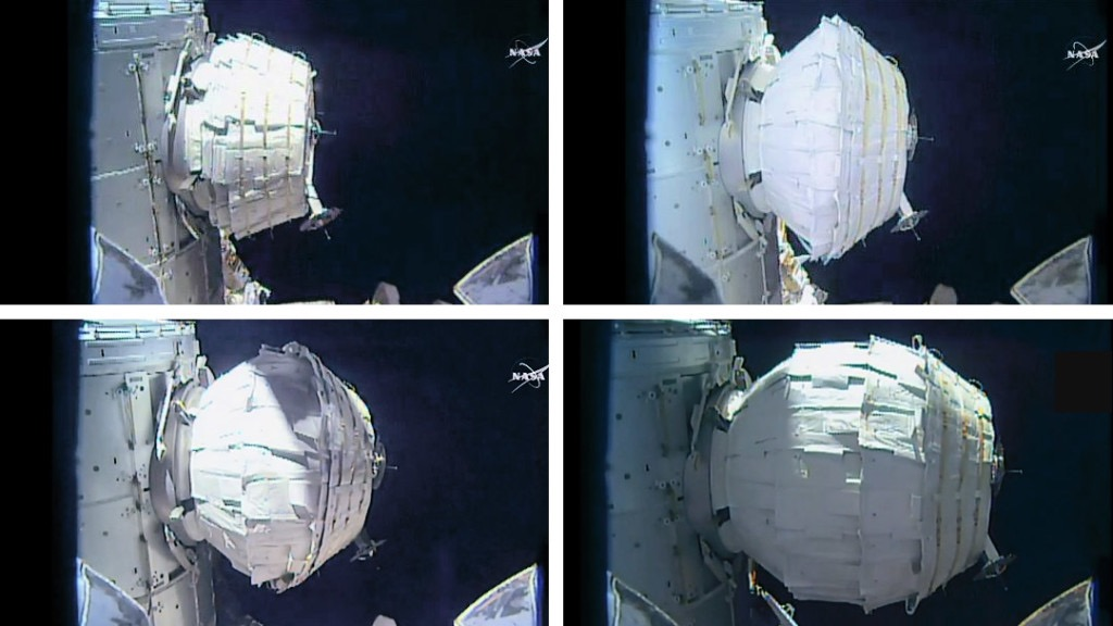 BEAM module fully expanded on space station