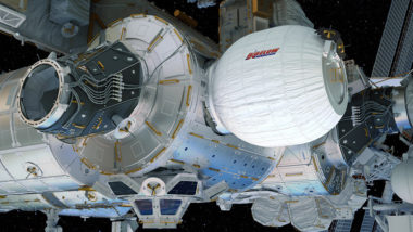 BEAM, the Bigelow Expandable Activity Module, is highlighted in its expanded configuration in this computer rendering. Credit: NASA/Bigelow