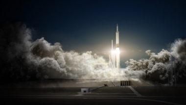 Falcon Heavy artist's concept