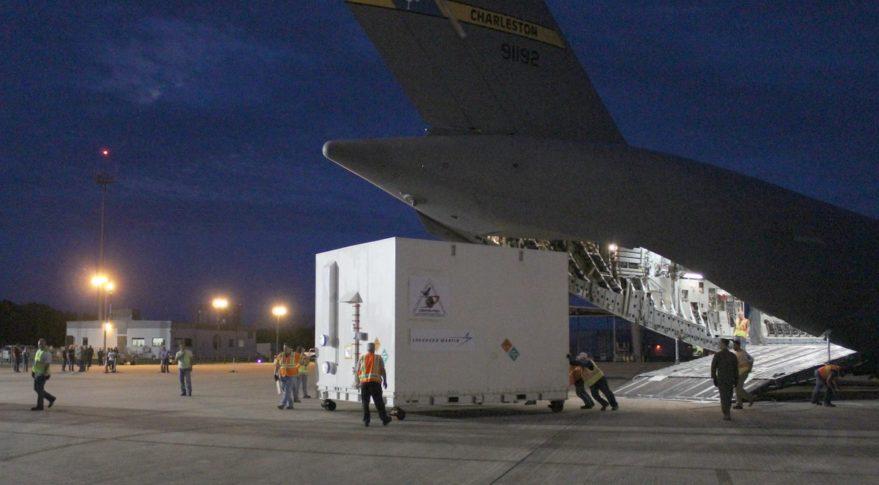 OSIRIS-REx unloading