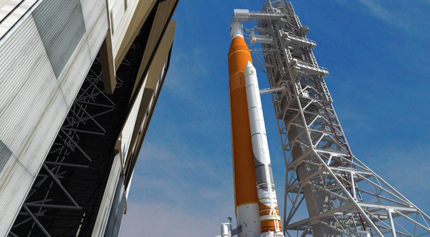 NASA artist's concept of SLS.