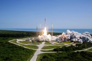 An Atlas 5 rocket from United Launch Alliance successfully launches the fifth narrowband communications satellite in the U.S. Navy's Mobile User Objective System. Credit: ULA.