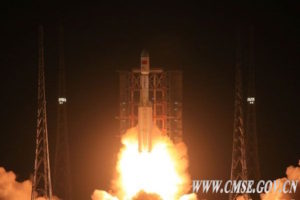 Long March 7 rocket lifting off June 25, 2016. Credit: CMSE