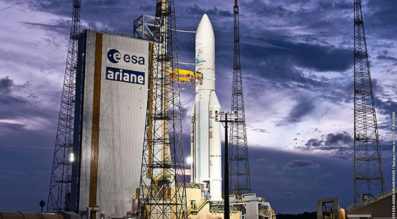 Ariane 5 on the launch pad. Credit: Arianespace