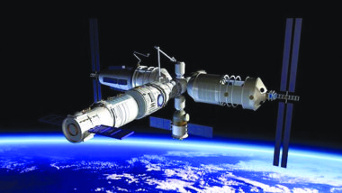 An artist's concept of China's space station, with the initial module set to launch in 2018. Credit: CMSA