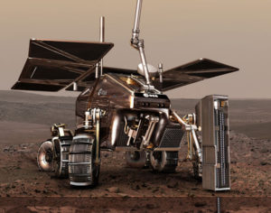 A concept of  the European Space Agency's ExoMars Rover. Credit: European Space Agency/AOES Medialab artist's concept
