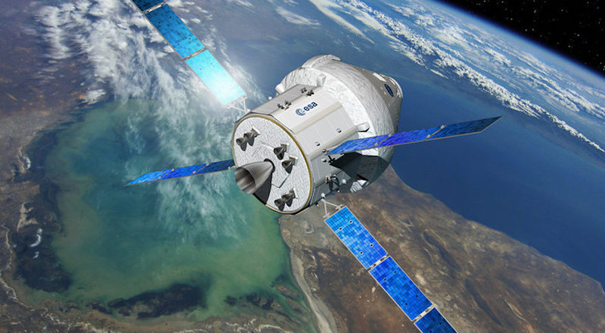 The European Service Module, which provides power and propulsion for NASA's Orion crew-transport vehicle.