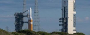 A ULA Delta 4 Heavy launch of a satellite for the NRO was delayed after poor weather conditions Thursday. Credit: NASA