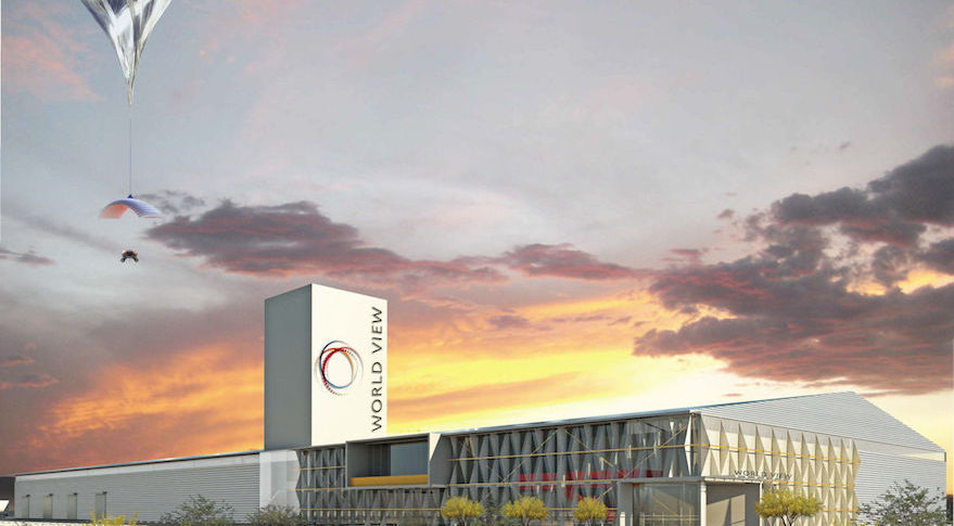 An artist's rendering of Spaceport Tucson, which is undergoing construction. Credit: World View Enterprises