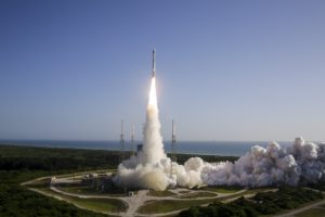 An Atlas 5 rocket from United Launch Alliance lifts off July 28 from Cape Canaveral Air Force Station in Florida. Credit: ULA