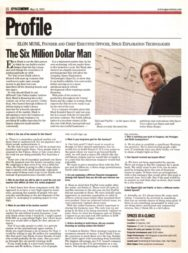 Musk Six Million Dollar Man SpaceNews Profile 2003