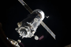 A Russian Progress cargo spacecraft docked on the ISS. Credit: NASA photo