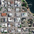 An image of downtown Oakland captured by DigitalGlobe's WorldView-2 satellite. Credit: DigitalGlobe.