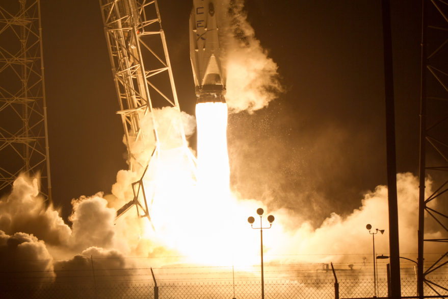 A SpaceX rocket carrying a Dragon cargo capsule lifts off July 18 from Cape Canaveral Air Force Bases, Florida. Credit: Craig Vander Galien for SpaceNews