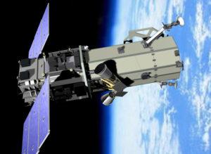Artist's concept of DigitalGlobe's Worldview-2 satellite. Credit: Ball Aerospace