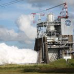 Aerojet Rocketdyne's RS-25 engine fires for 420 seconds at NASA's Stennis Space Center. Credit: Aerojet Rocketdyne
