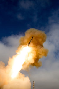 A Standard Missile-3 (SM-3) Block 2A launched from the Point Mugu Sea Range, San Nicolas Island, California on June 6, 2015. This test was the first live fire of the SM-3 Block 2A. Credit: MDA