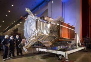 Digital Globe's WorldView-4 at Lockheed Martin Space Systems' Sunnyvale, California, facility. Credit: Lockheed Martin