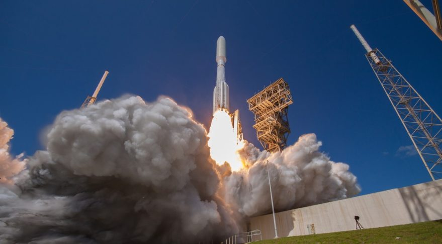 An Atlas 5 rocket carrying the MUOS-5 satellite lifts off from Cape Canaveral Air Force Station in Florida June 24, 2016. Credit: ULA/Ben Cooper.