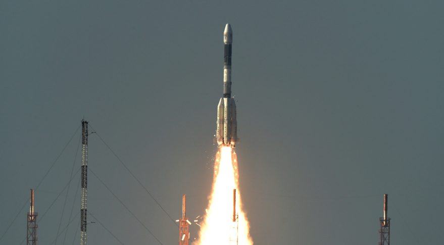 India's GSLV Mark 2 rocket on Sept. 8 launched the INSAT-3DR advanced weather satellite into its planned geostationary transfer orbit. Credit: ISRO