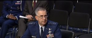 Gen. John Hyten, commander of Air Force Space Command, testifies before the Senate Armed Services Committee Sept. 20. Credit: SASC.